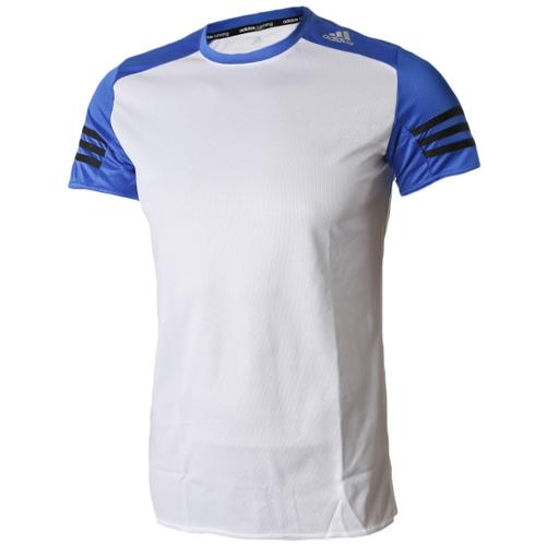 [ADIDAS]AA0644 반팔 티셔츠 (흰색/파랑) 남성용