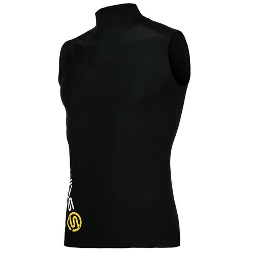 [SKINS]SL172MRASV101 BLK0 기본 로고 하프넥 민소매 언더셔츠(블랙)