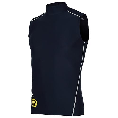 [SKINS]SL172MRASV102 NAV0 기본 로고 하프넥 민소매 언더셔츠(네이비)
