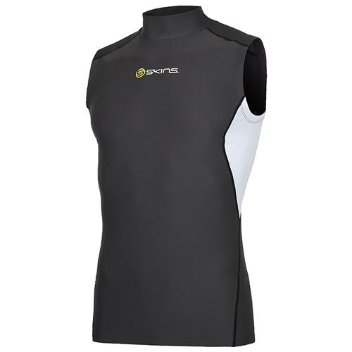 [SKINS]SL172MRASV106 GRE0 절개 배색 하프넥 민소매 언더셔츠(그레이)