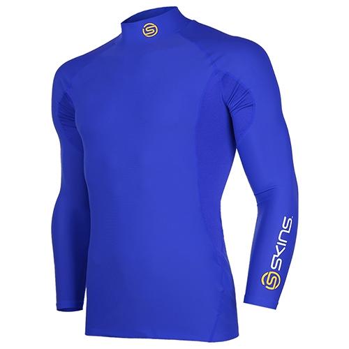 [SKINS]SL172MRAIS115 BLUE SKINS 절개포인트 긴팔 언더셔츠(BLUE)