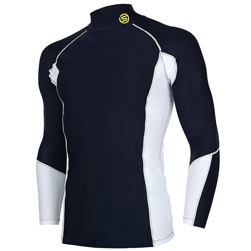 [SKINS] SL172MRAIS110 NAV0 절개 배색 하프넥 긴팔 언더셔츠(네이비)