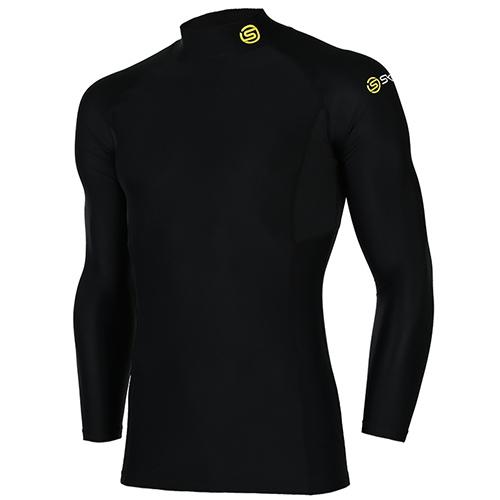 [SKINS]SL172MRAIS111 BLK0 매쉬 배색 하프넥 긴팔 언더셔츠(블랙)