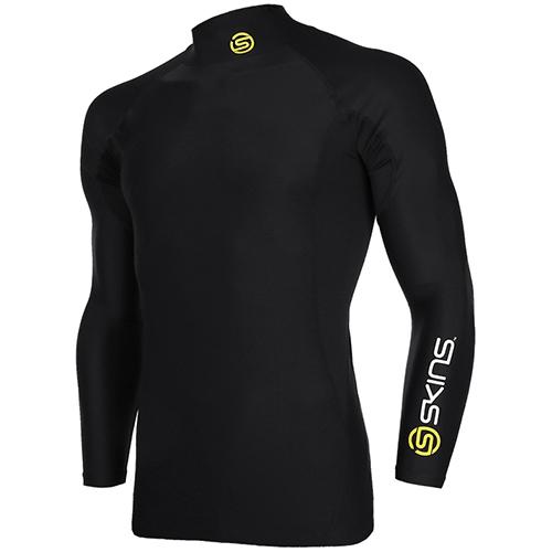 [SKINS]SL172MRAIS113 BLK0 SKINS 절개포인트 긴팔 언더셔츠(BLK)