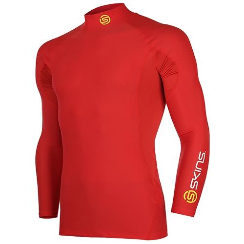 [SKINS]SL172MRAIS116 RED SKINS 절개포인트 긴팔 언더셔츠(RED)
