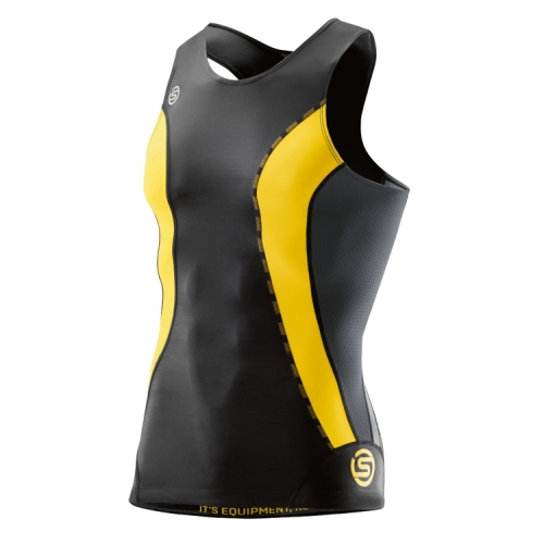 [SKINS]K6121DNS11 BKCI DNAMIC MEN BLACK/CITRON TOP SLEEVELESS 남자 민소매 상의