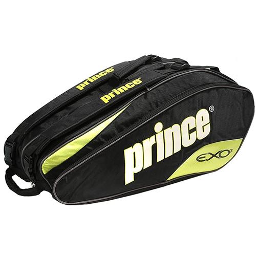 [PRINCE]PBG304-092 테니스가방 (검정/녹색)