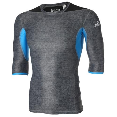 [ADIDAS]S27021 긴팔 티셔츠 (회색/파랑) 남성용