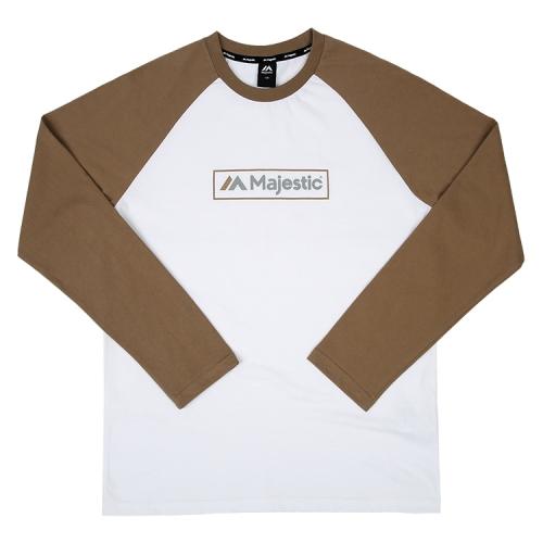 [MAJESTIC] ML173MCATS005 면 라글란 티셔츠(베이지)