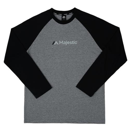 [MAJESTIC]ML173MCATS001 면 라글란 티셔츠(블랙)
