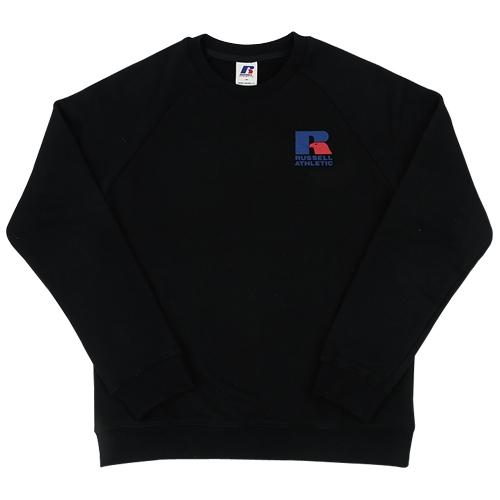 [RUSSELL]RL171MCAMT006 로고플레잉 맨투맨(블랙)