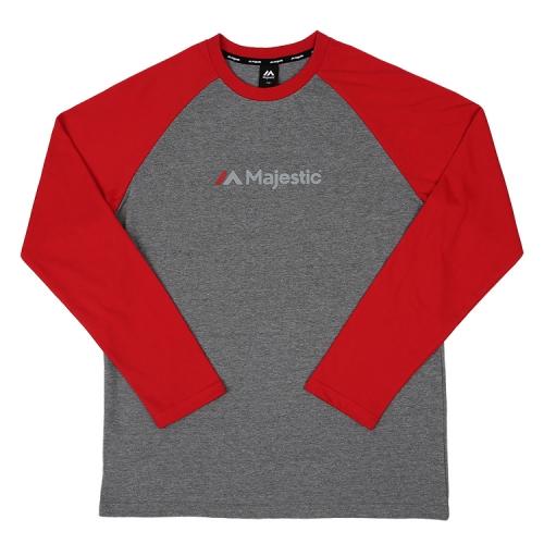 [MAJESTIC] ML173MCATS003 면 라글란 티셔츠(레드)