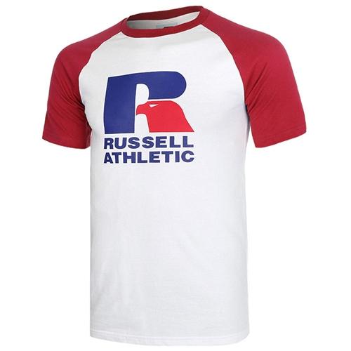 [RUSSELL]라글란 그래픽 반팔티셔츠 (RED)