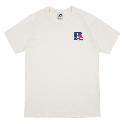 [RUSSELL]RL172MCATS001 러셀 스몰 독수리 로고 반팔 티셔츠(아이보리)