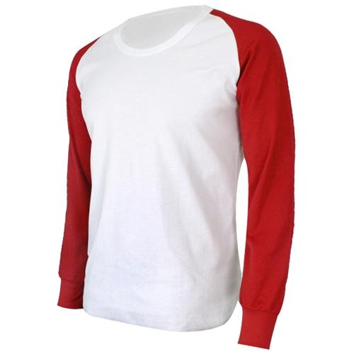[KNB]라운드언더셔츠 (빨강/흰색)