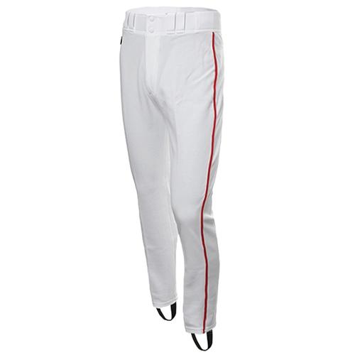 [DESCENTE]S931-WBFPA1 SWHT BASEBALL GAME PANTS 기성 유니폼 하의 적1선 (흰색/빨강)