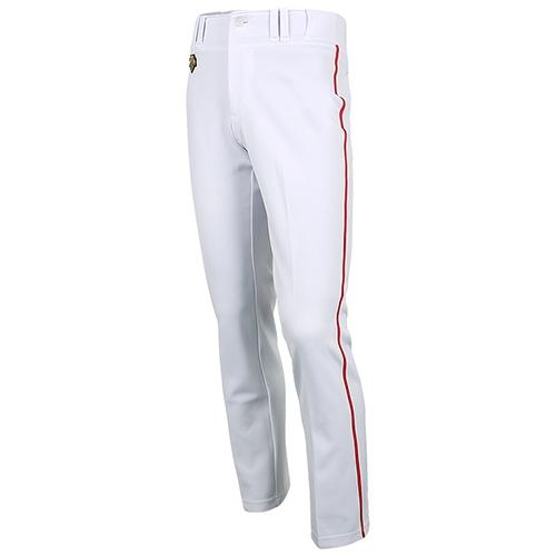 [DESCENTE]S212WLKP02 기성 유니폼 하의 적1선 (흰색/빨강)