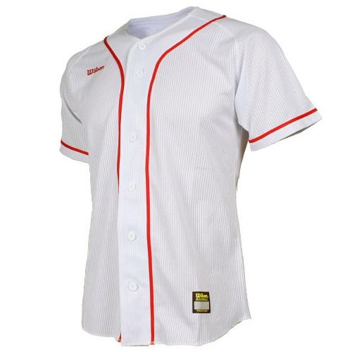 [WILSON]WTA11008WHRD WS TEAM JR8 기성 유니폼 상의 (빨강/흰색)