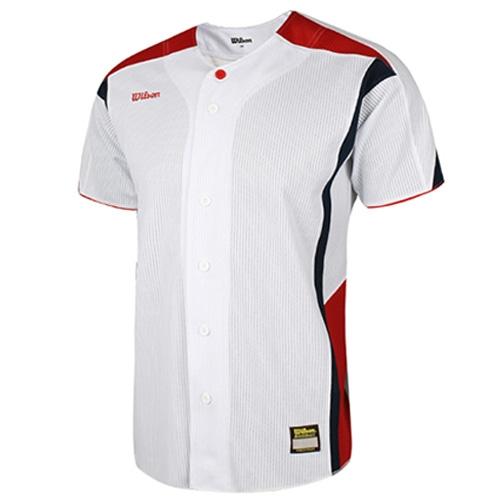 [WILSON]WTA11028WHRN WS TEAM JR14 기성 유니폼 상의 (빨강/곤색)