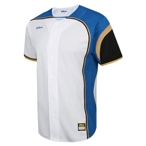 [WILSON]WTA11037WHBG WS TEAM JR23 기성 유니폼 상의 (흰색/금색)