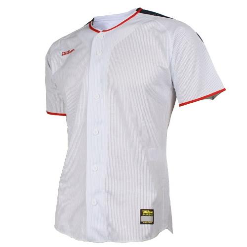 [WILSON]WTA11001WHRN WS TEAM JR1 기성 유니폼 상의 (흰색/빨강)