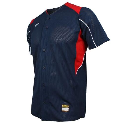 [WILSON]WTA11010NARW WS TEAM JR10 기성 유니폼 상의 (곤색/빨강)