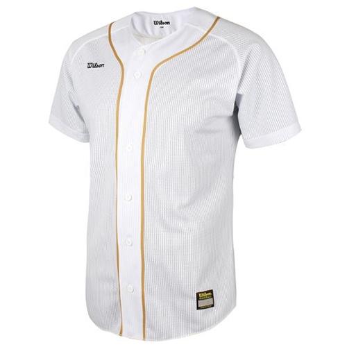 [WILSON]WTA11032WHGL WS TEAM JR18 기성 유니폼 상의 백/금