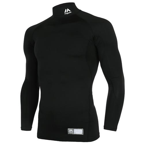[MAJESTIC]ML171MBAIL001 하프넥 긴팔 언더셔츠(블랙)