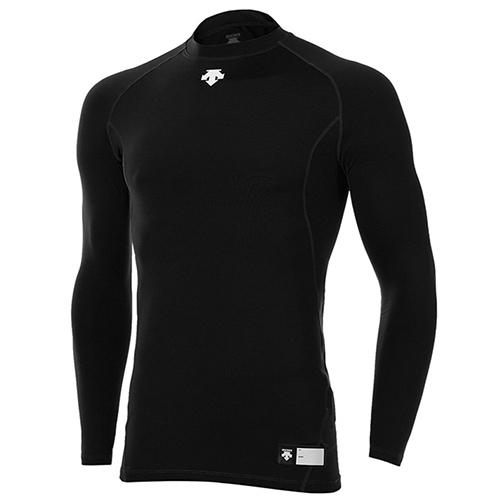 [DESCENTE]S5321ZPC01 BLK0 라운드 긴팔 언더셔츠(블랙)