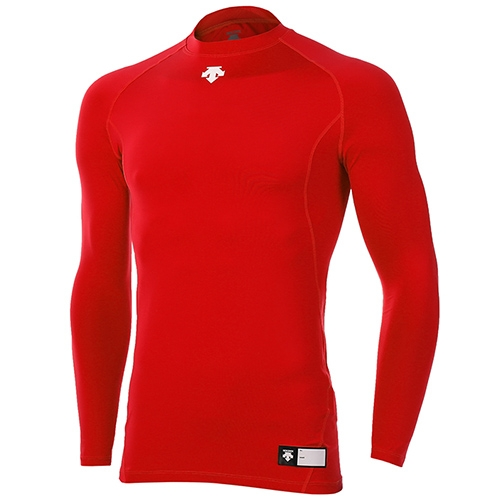 [DESCENTE]S5321ZPC01 RED0 라운드 긴팔 언더셔츠(레드)