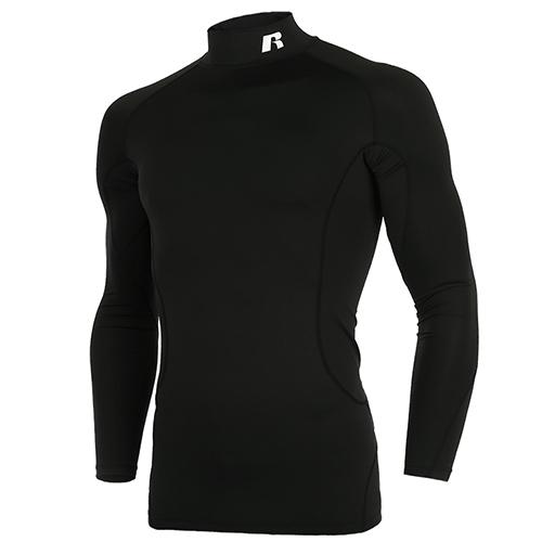 [RUSSELL] RL171MBAIL001 하프넥 긴팔 언더셔츠(블랙)