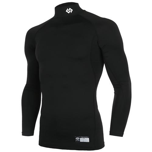 [KNB]KN171MBAIL001 하프넥 긴팔 언더셔츠(블랙)