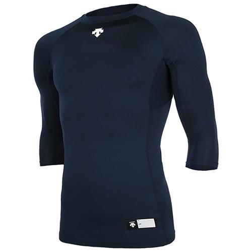 [DESCENTE]S7221ZPC03 NVY 절개 라운드 7부 언더셔츠(네이비)