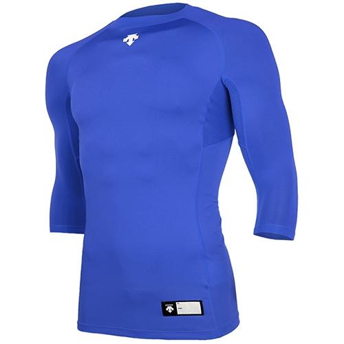 [DESCENTE]S7221ZPC03 BLU 절개 라운드 7부 언더셔츠(블루)
