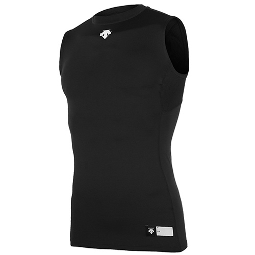 [DESCENTE]S7221ZST01 BLK 절개 라운드 민소매 언더셔츠(블랙)