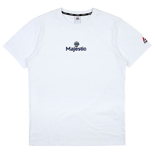 [MAJESTIC] ML172UBATS104 야구친구 콜라보 곰돌이 반팔 티셔츠(화이트)