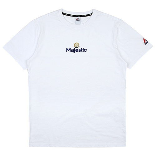 [MAJESTIC]ML172UBATS105 야구친구 콜라보 사돌이 반팔 티셔츠(화이트)