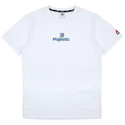 [MAJESTIC]ML172UBATS107 야구친구 콜라보 공용이 반팔 티셔츠(화이트)