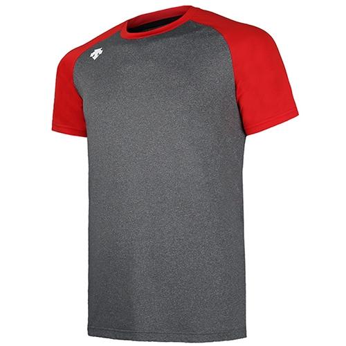 [DESCENTE]S7221ZTS04 RED0 배색 스판BP셔츠(회/빨)