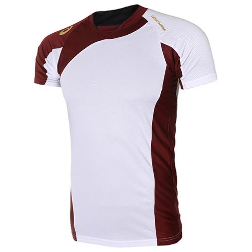 [ASICS]BAD101 0126 BLADE SHIRT 반팔셔츠  (흰색/와인색)