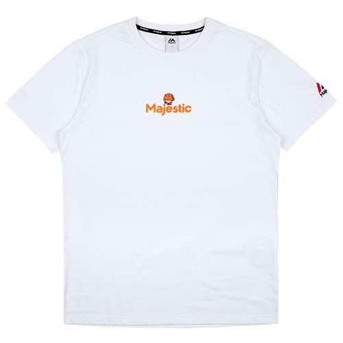 [MAJESTIC]ML172UBATS109 야구친구 콜라보 비룡이 반팔 티셔츠(화이트)