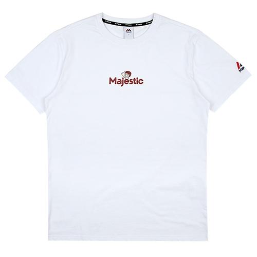 [MAJESTIC] ML172UBATS110 야구친구 콜라보 웅이 반팔 티셔츠(화이트)