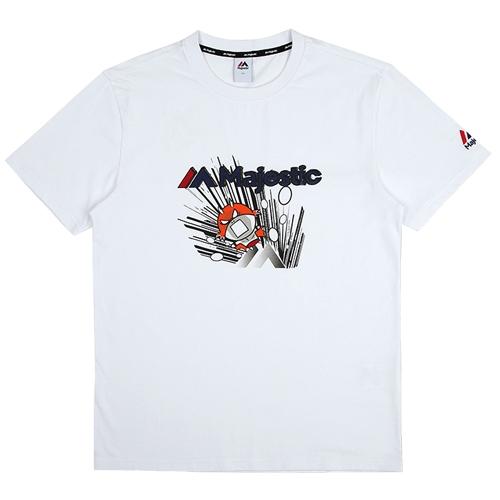 [MAJESTIC]ML172UBATS111 야구친구 콜라보 비룡이 그래픽 반팔 티셔츠(화이트)