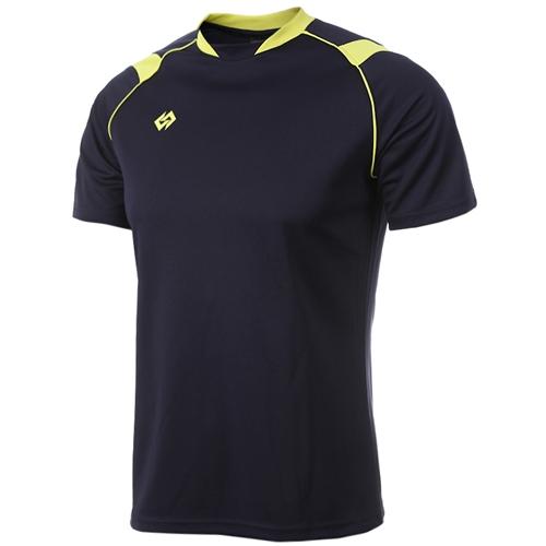 [KNB]KPA015 하계셔츠 곤색/연두