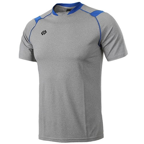 [KNB] KPA018 하계셔츠 멜란지 (회색/파랑)