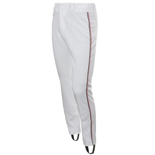 [DESCENTE]S931-WBFPA1 SWHT BASEBALL GAME PANTS 기성 유니폼 하의 적백검3선 (흰색/빨강)