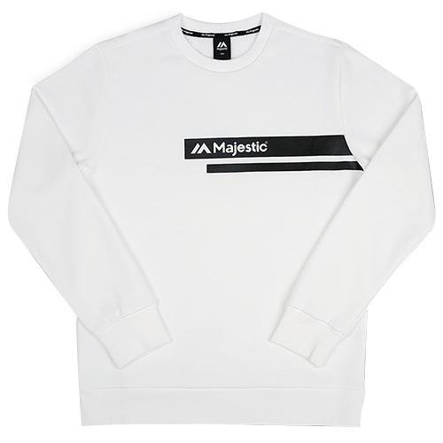 [MAJESTIC] ML173MCAMT003 쿠션지 맨투맨 티셔츠(화이트)
