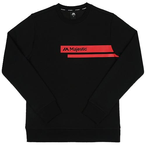 [MAJESTIC]ML173MCAMT004 쿠션지 맨투맨 티셔츠(블랙)