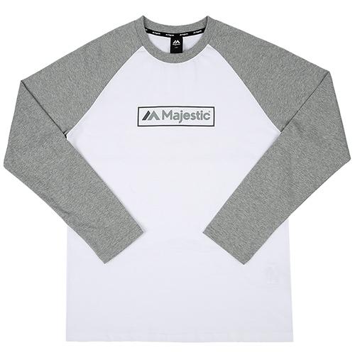 [MAJESTIC]ML173MCATS004 면 라글란 티셔츠(그레이)