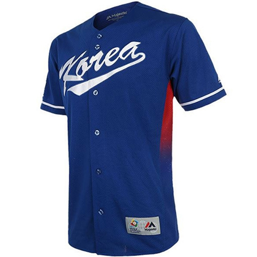 [MAJESTIC]ML175UBAUJ002 2017 WBC REPLICA JERSEY ROAD(블루)